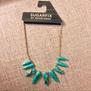 NWT Sugarfix Turquoise Statement Necklace